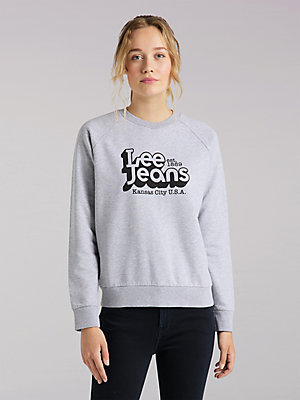 Women's Lee European Collection Graphic Crew Neck Sweatshirt