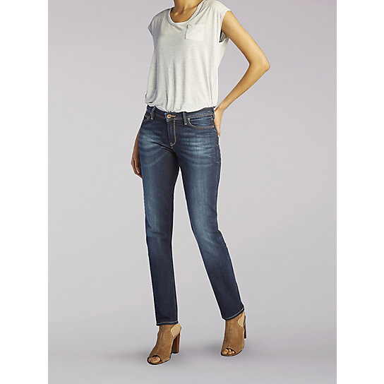 Lee European Collection - Marion High Rise Straight Leg Jeans