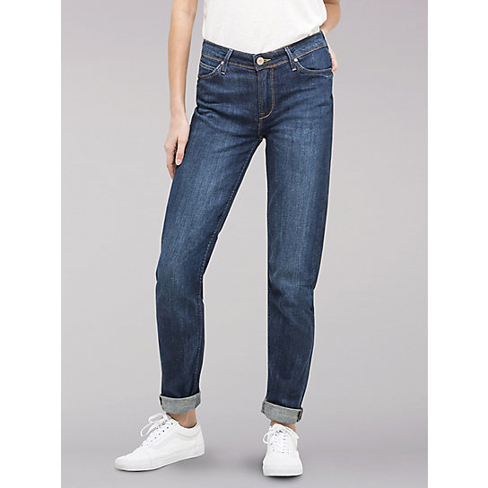 Lee European Collection  - Sallie Relaxed Fit Slim Leg Boyfriend Jeans
