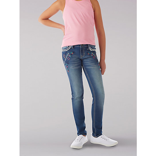 Pom Pom Trim Ankle Crop Jean