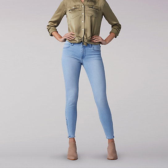 Lee European Collection - Scarlett Cropped Jean W/ Zip Detail