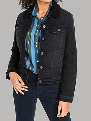 Women's Lee European Collection -  Sherpa Lined Rider Jacket