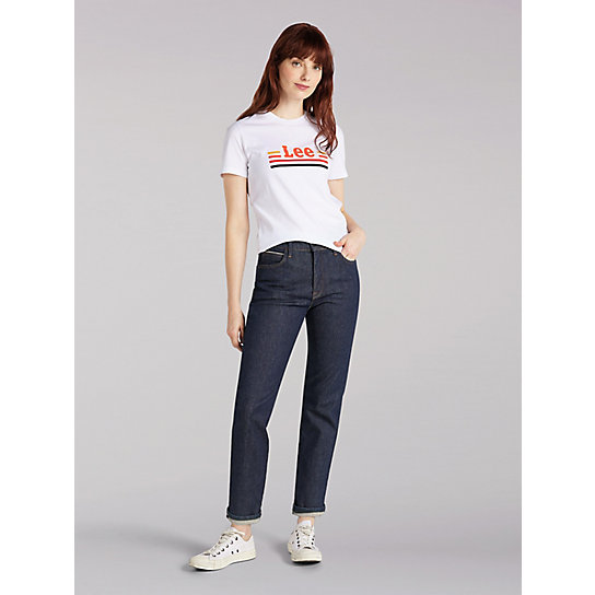 Women's Lee European Collection Regular Fit Straight Leg Ankle Jean