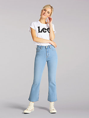 Women's Lee European Collection High Rise Breese Cropped Flare Jean
