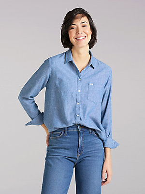Women's Lee European Collection One-Pocket Shirt