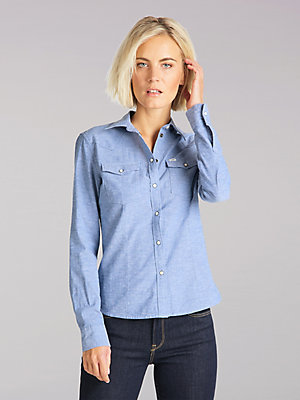 Women's Lee European Collection Slim Western Shirt