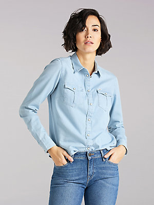 Women's Lee European Collection Regular Western Denim Shirt