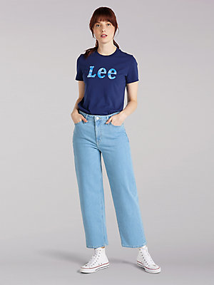 Women's Lee European Collection High Rise Cropped Wide Leg Jean
