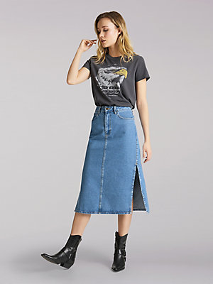 Women's Lee European Collection Thelma Midi Skirt