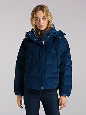 Women's Lee European Collection Heavy Corduroy Puffer Jacket