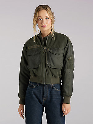 Women's Lee European Collection Sateen Bomber Jacket