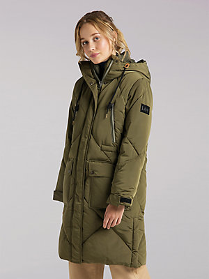 Women's Lee European Collection Elongated Puffer Jacket