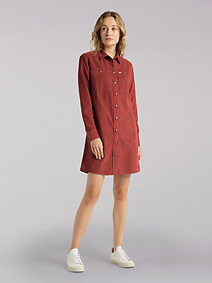 Women's Lee European Collection Corduroy Workshirt Dress