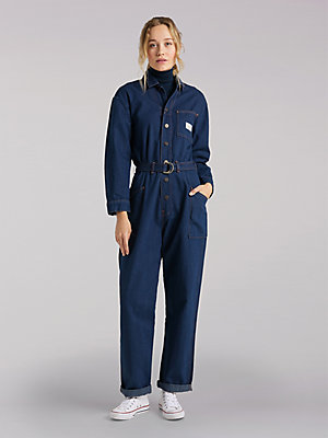 Women's Lee European Collection Belted Union-All