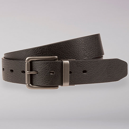 Reversible Textured Leather Belt - Men