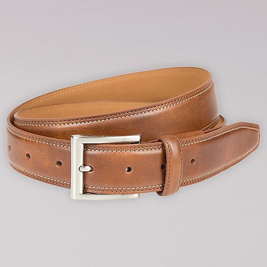 Active Comfort Leather Belt - Men
