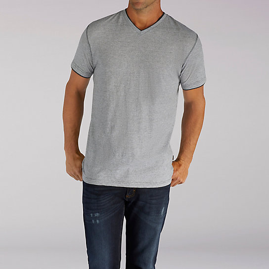 Short Sleeve Hanson V-Neck Stripe Tee