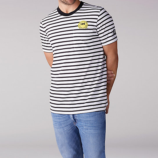 e1dd7229 Lee x Smiley Striped Pocket Tee | Lee