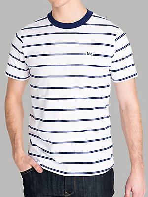 Men's Lee European Collection Short Sleeve Stripe Logo Tee