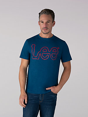 Men's Jersey Knit Lee Outlined Logo Tee