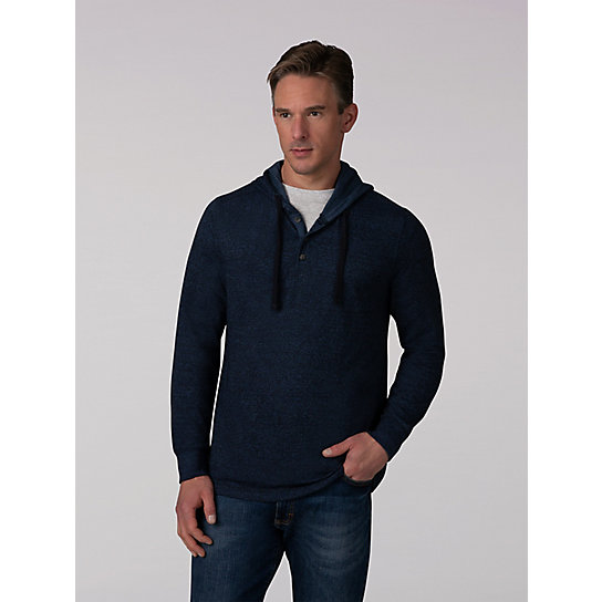 Men's Grindle Drawstring Half Button Hoodie