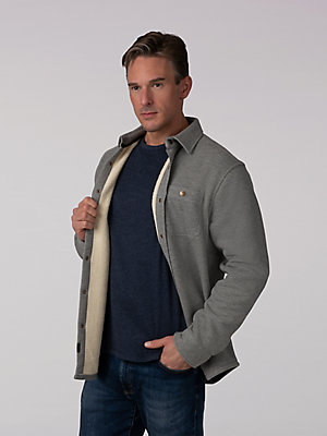 Men's Sherpa Thermal Shirt Jacket