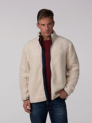 Men's Sherpa Full Zip With Nylon Trim Jacket
