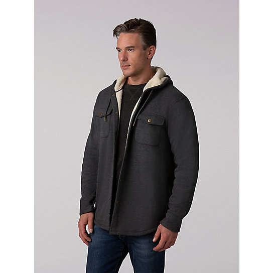 Men's Fleece Sherpa Lined Hoodie