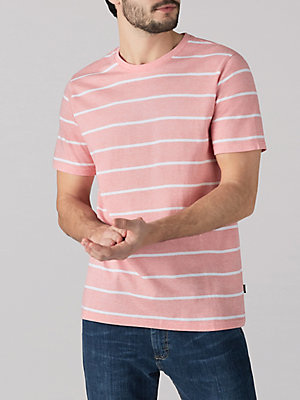 Men's Short Sleeve Stripe Crew Shirt