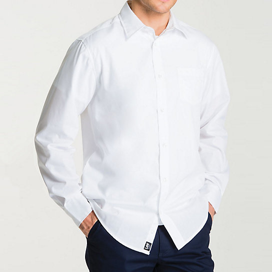 Long Sleeve Point Collar Poplin Shirt - Uniforms
