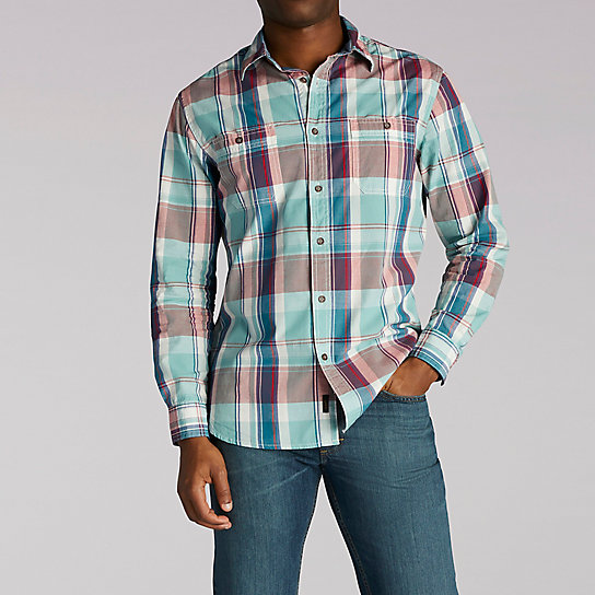 Brooks Shirt - Long Sleeve Plaid Button Front Shirt