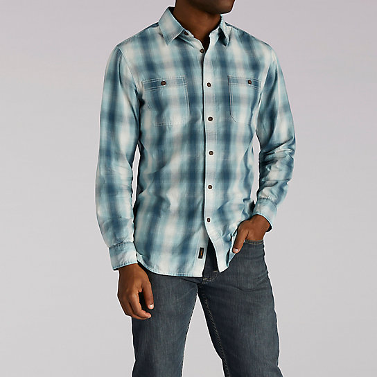 Aaron Shirt - Long Sleeve Plaid Button Front Shirt
