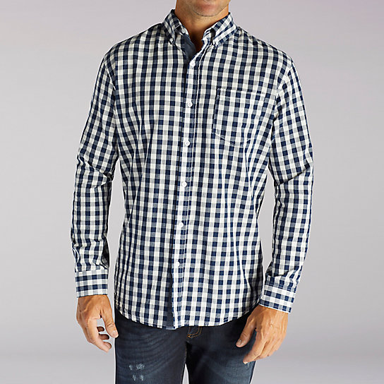 Long Sleeve Ryker Gingham Print Shirt