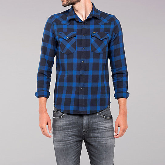Lee European Collection - Western Plaid Shirt - Night Sky