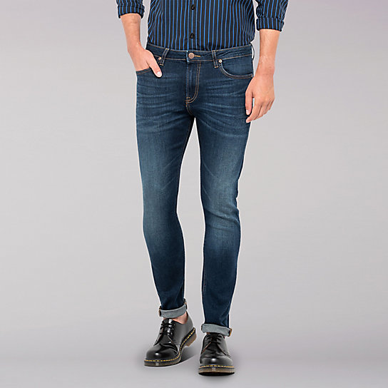 Lee European Collection - Malone Skinny Leg Jean - Bright Blue