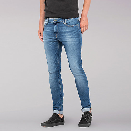 Lee European Collection - Malone Skinny Leg Jean - Blue Drop