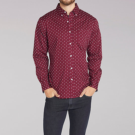 Long Sleeve Winston Print Shirt
