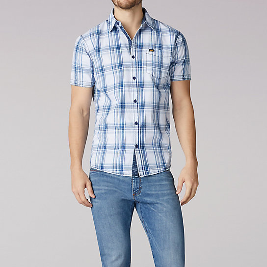 Short Sleeve Plaid Woven