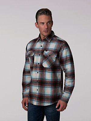 Men's Heavy Weight Flannel Button Down Shirt