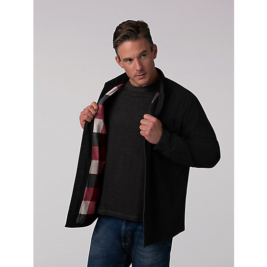 Men's Flannel Lined Canvas Shirt Jacket