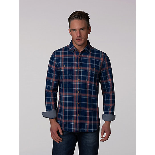 Indigo Button Down Work Shirt
