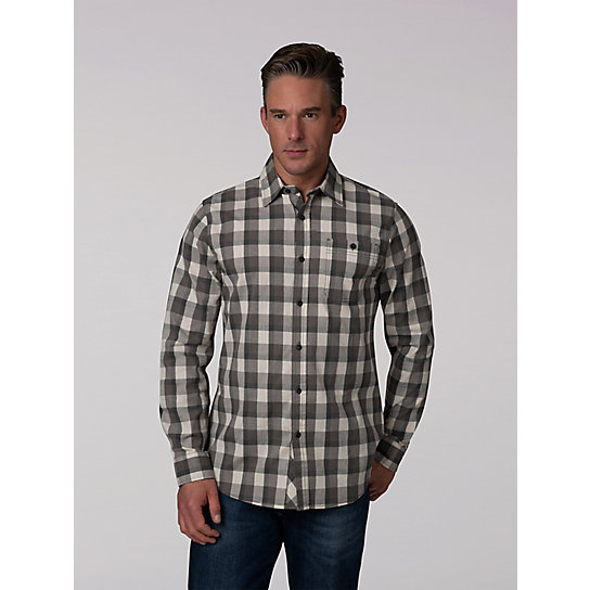 One Pocket Cross Dyed Button Down Shirt