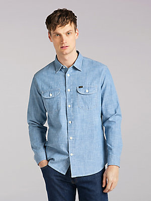Men's Lee European Collection Carpenter Pocket Worker Shirt