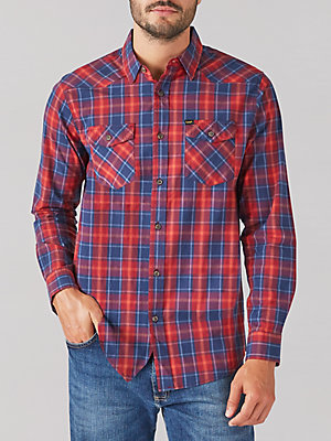 Men's Western Stretch Button Down Shirt
