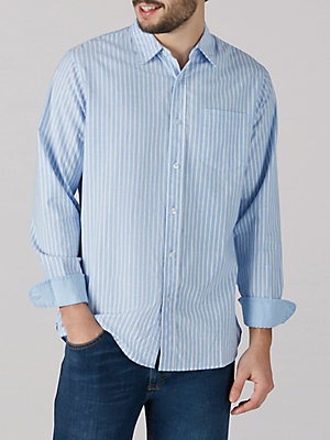 Men's Striped Oxford Button Down Shirt