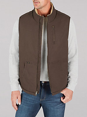 Men's Sherpa Lined Canvas Vest