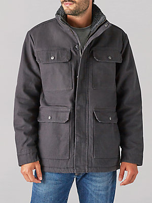 Men's Cargo Pocket Canvas Jacket
