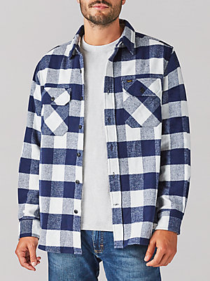 Men's Buffalo Check Camois Shirt Jacket