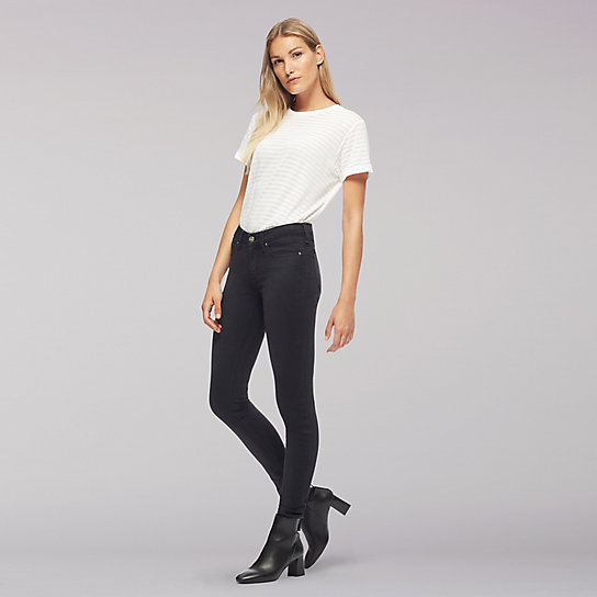 Lee Body Optix High Rise Skinny Jean-Black Out