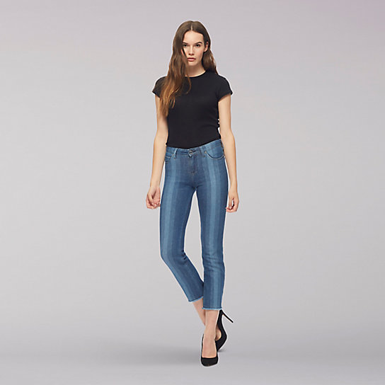 Lee Body Optix Elly Cropped Jean w/Raw Hem